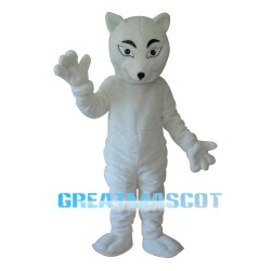 White Fox Mascot Adult Costume Free Shipping