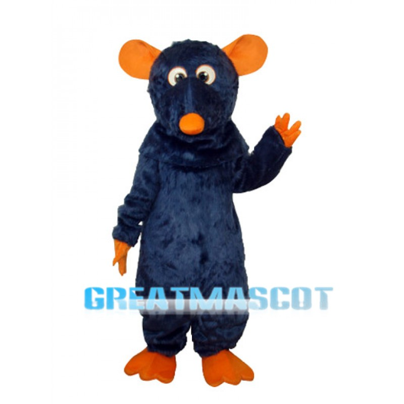 Big Tooth Black Plush Moust Adult Mascot Costume Free Shipping