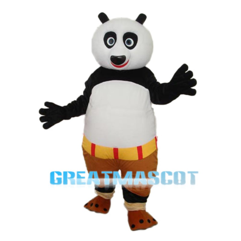 5th Version of Short Wool Kung Fu Panda Mascot Adult Costume Free Shipping