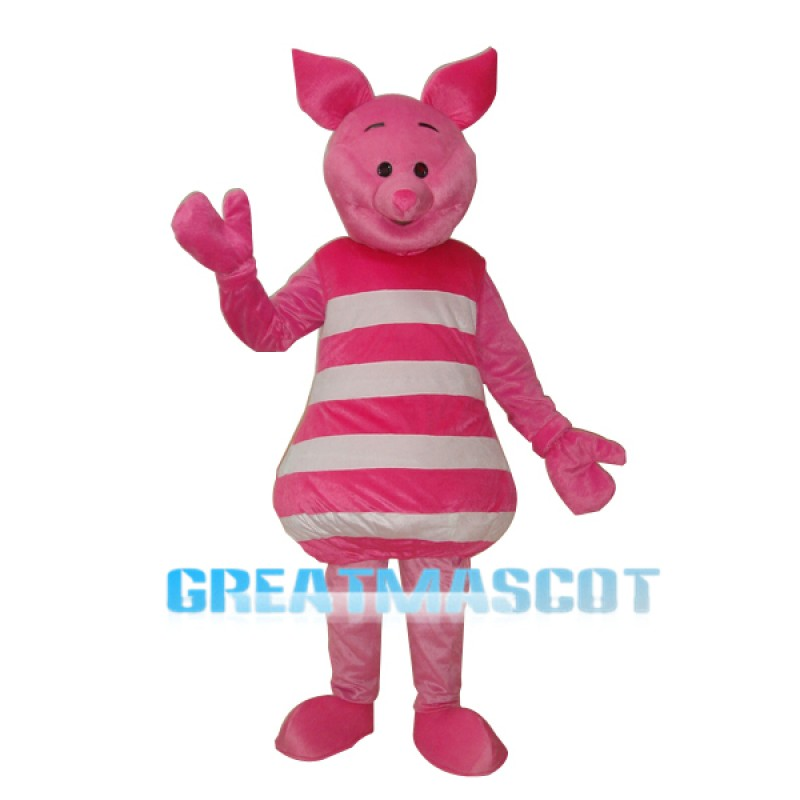 Little Pink Pig Mascot Adult Costume Free Shipping