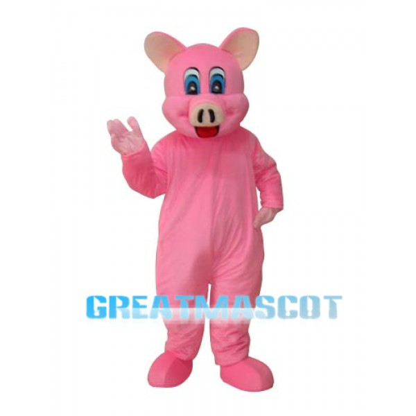 Pink Pig Mascot Adult Costume Free Shipping