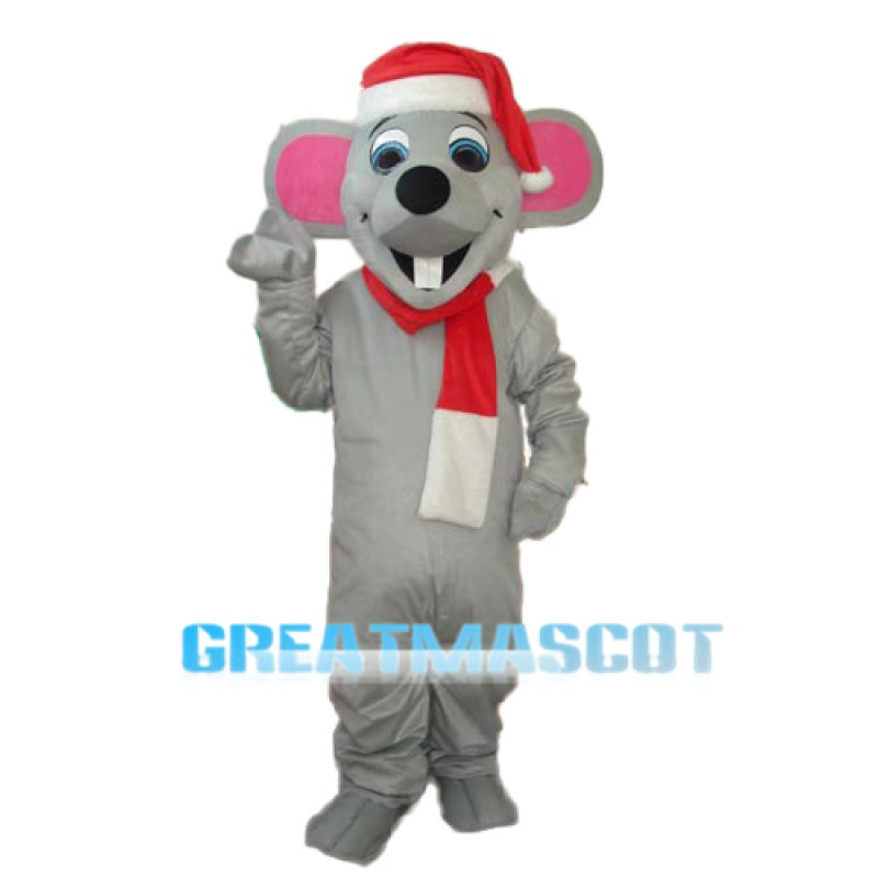 Christmas Mouse Mascot Adult Costume Free Shipping