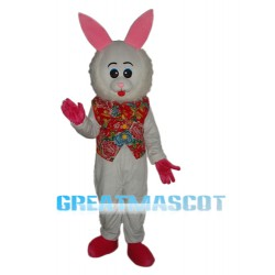Furry Face Rabbit Mascot Adult Costume Free Shipping