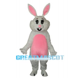 Pink Ears Rabbit Mascot Adult Costume Free Shipping