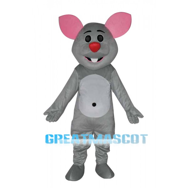 Grey mouse adult Mascot Costume Free Shipping