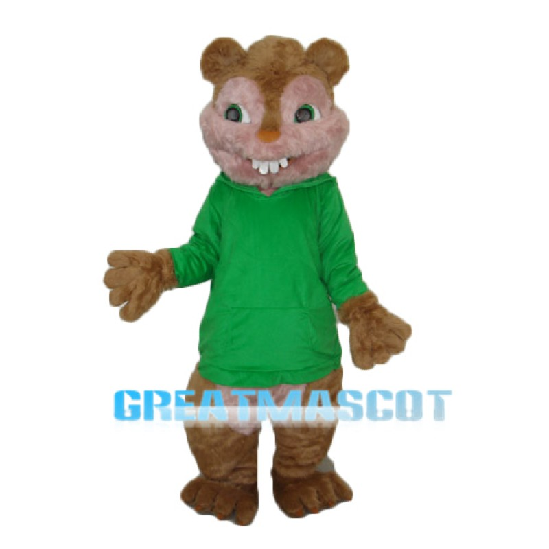 Theodore Chipmunk Mascot Adult Costume Free Shipping