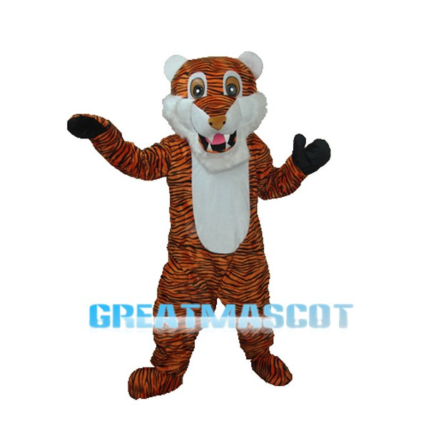 Reddish Brown Stripe Tiger Adult Mascot Costume Free Shipping