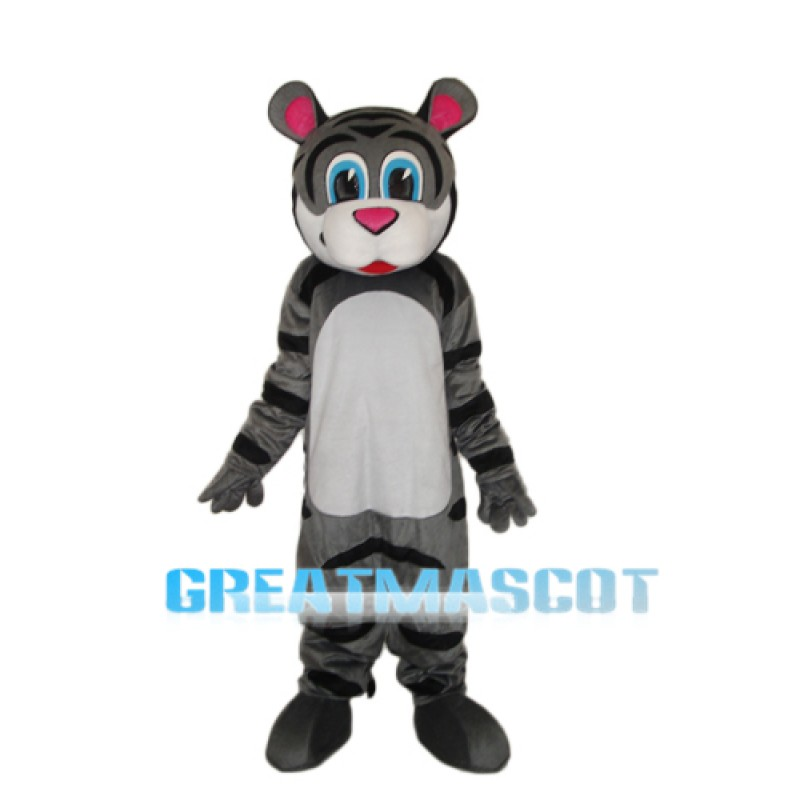 Small Gray Tiger Mascot Adult Costume Free Shipping