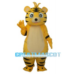 Small Yellow Tiger Mascot Adult Costume Free Shipping