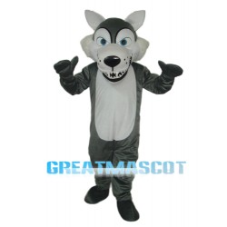 Short-haired Wolf Mascot Adult Costume Free Shipping