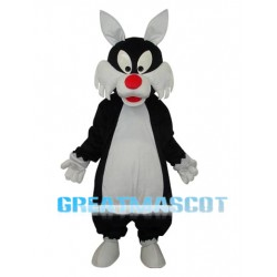 White Mouth Wolf Mascot Adult Costume Free Shipping