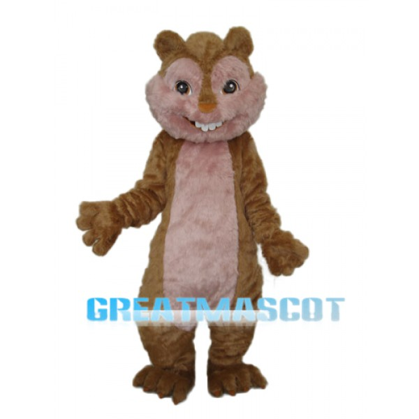 Long Wool Yellow Squirrel Mascot Adult Costume Free Shipping