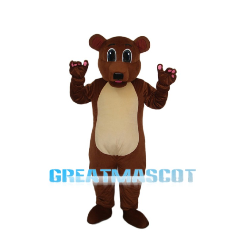 Golden Brown Bear Mascot Adult Costume Free Shipping