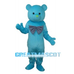 Happy Blue Bear Mascot Adult Costume Free Shipping