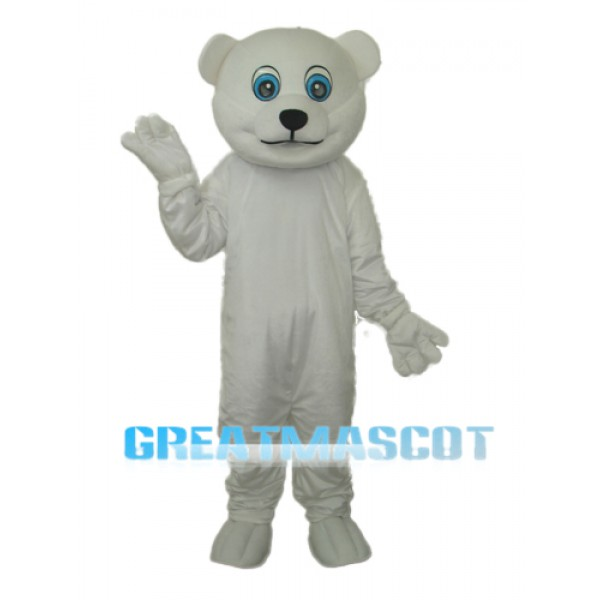 Little Polar Bear Mascot Adult Costume Free Shipping