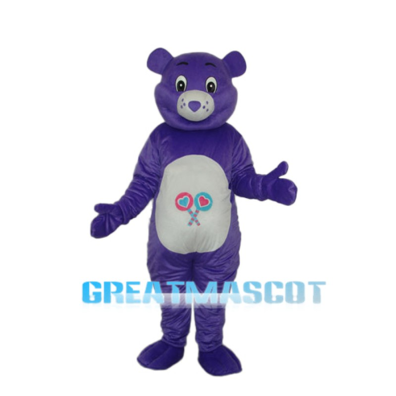 Purple Bear Mascot Adult Costume Free Shipping