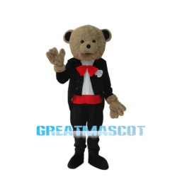 Wedding Bear Mascot Adult Costume Free Shipping