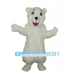 White Polar Bear Adult Mascot Costume Free Shipping