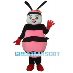 Black & Pink Bee Mascot Adult Costume Free Shipping
