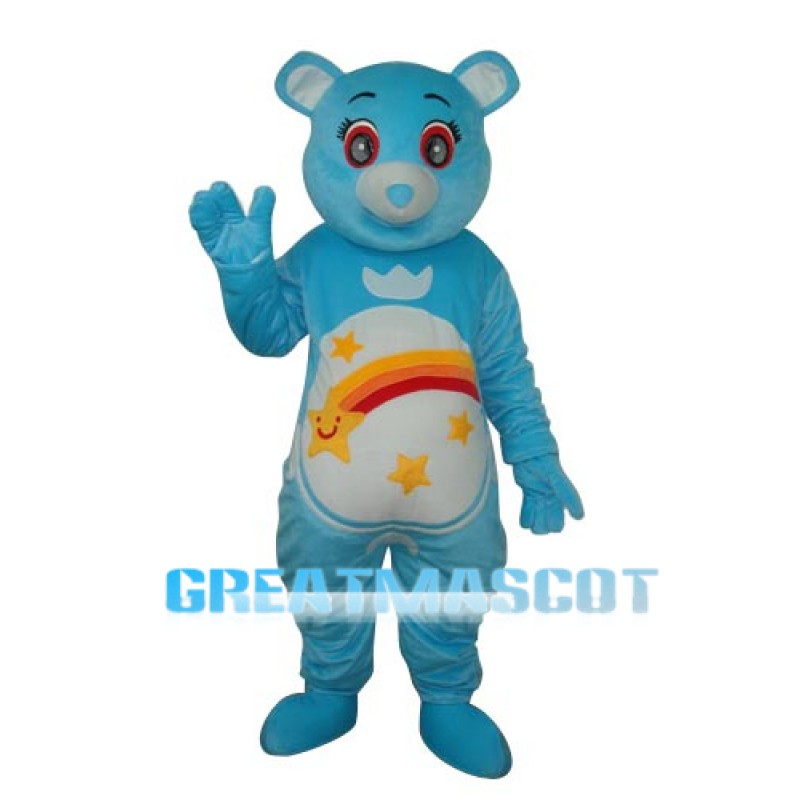 Flower Belly Blue Bear Mascot Adult Costume Free Shipping