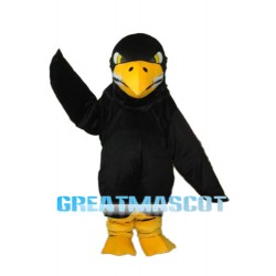 Long Wool Black Eagle Mascot Adult Costume Free Shipping
