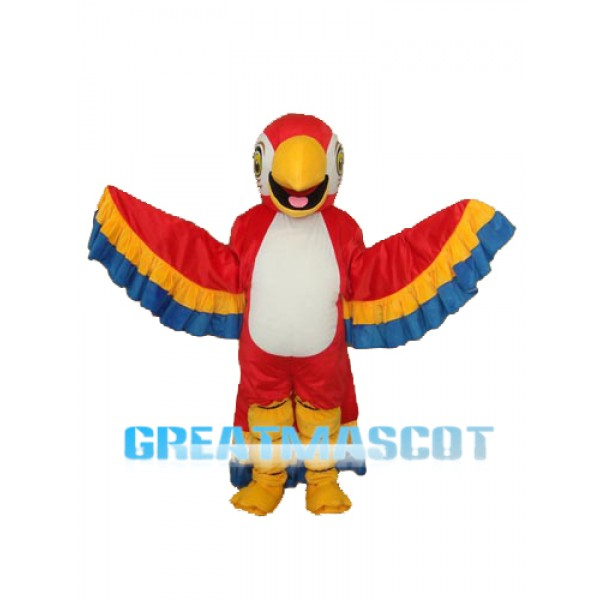 Red Parrot with Lace Tail Mascot Adult Costume Free Shipping