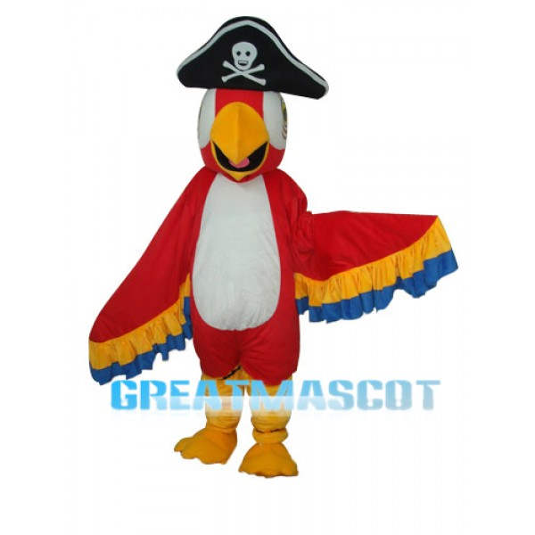 Red Pirate Parrot Mascot Adult Costume Free Shipping