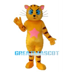 Yellow Star Cat Mascot Adult Costume Free Shipping