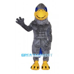 College Grey Hawk Mascot Costume