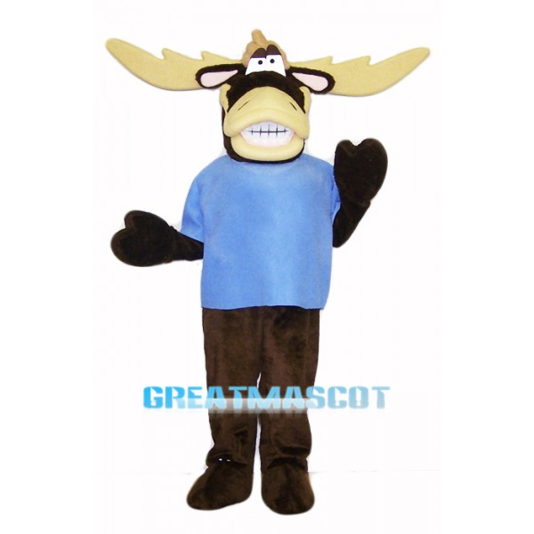 College Moose Mascot Costume