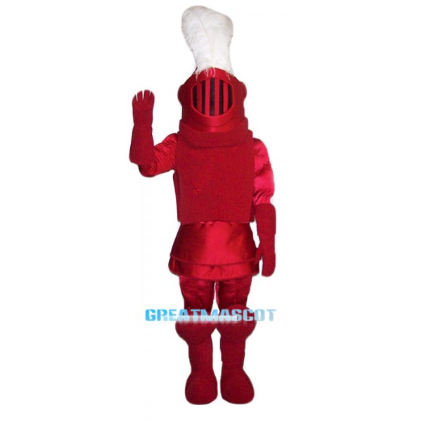 High Quality Red knight Mascot Costume