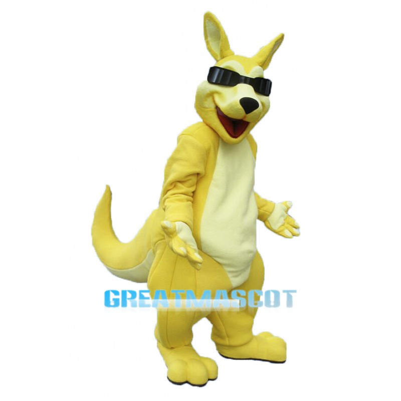 Cool Adult Kangaroo Mascot Costume