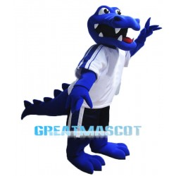 Blue Alligator Mascot Costume