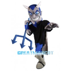 Grey & Blue Devil Mascot Costume