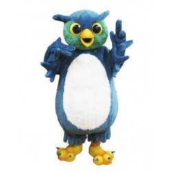 High Quality Blue Owl Mascot Costume
