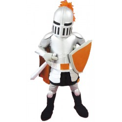 High Quality Silver Knight Mascot Costume