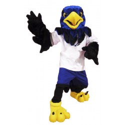 Blue Hawk Mascot Costume