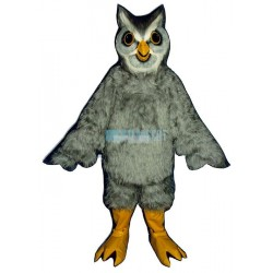 High Quality Grey Owl Mascot Costume