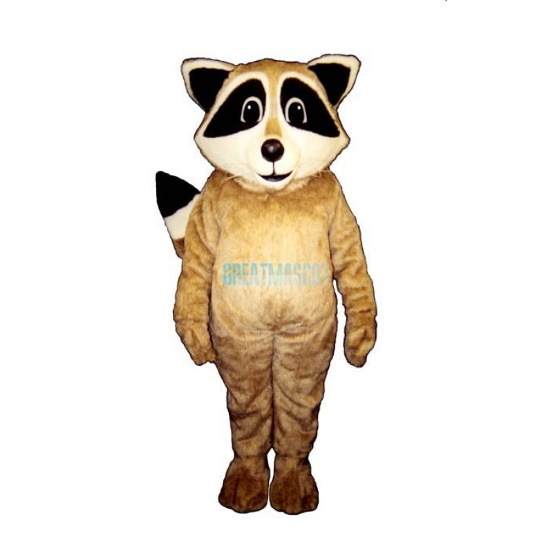 Tan Robbie Raccoon Mascot Costume