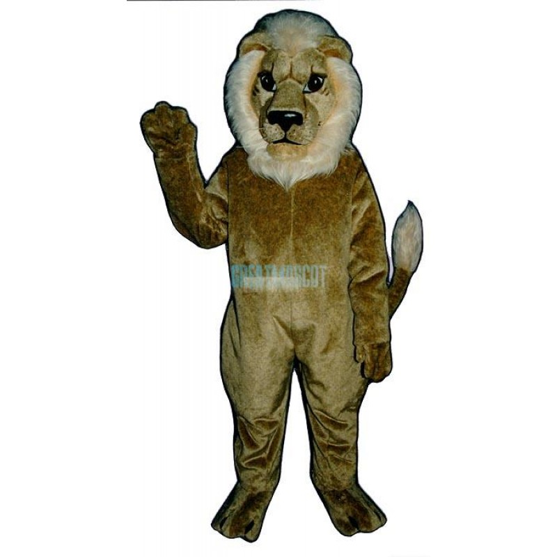 Blonde Lion Mascot Costume