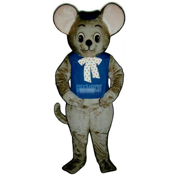 Maxi Mouse With Vest And Hat Mascot Costume