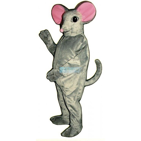 Gray Mouse Mascot Costume