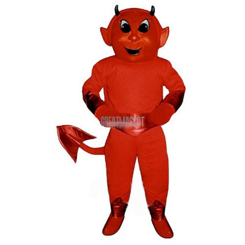 Cute Red Devil Mascot Costume