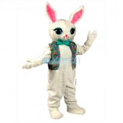 Cotton Bunny Mascot Costume