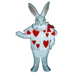 White Rabbit with Jacket Mascot Costume