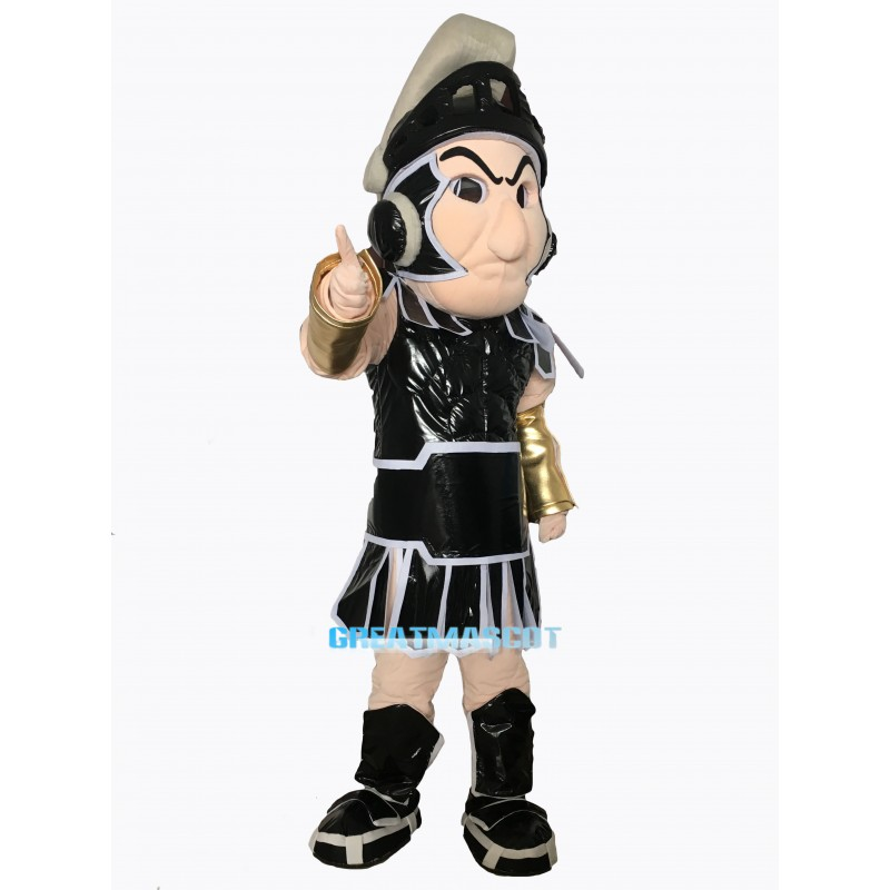 BLACK SPARTAN TROJAN KNIGHT SPARTY MASCOT COSTUME