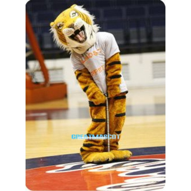 Happy Tiger Mascot Costume