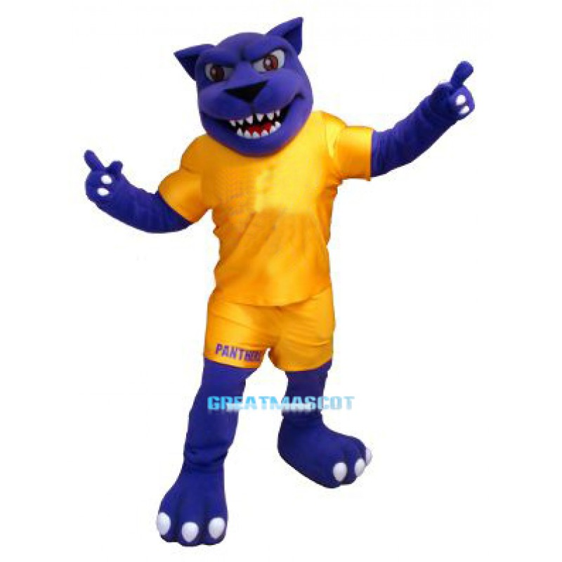Power Blue Panther Mascot Costume