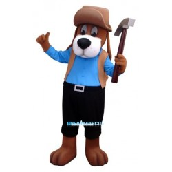 Worker Dog Mascot Costume