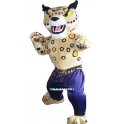 Martial Arts Cheetah Mascot Costume Adult Costume